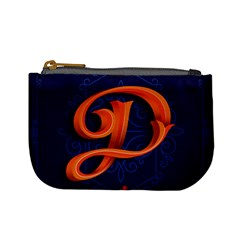 Marquis Love Dope Lettering Blue Red Orange Alphabet P Mini Coin Purses by Mariart