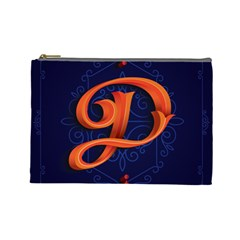 Marquis Love Dope Lettering Blue Red Orange Alphabet P Cosmetic Bag (large)  by Mariart
