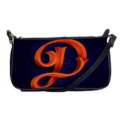 Marquis Love Dope Lettering Blue Red Orange Alphabet P Shoulder Clutch Bags by Mariart