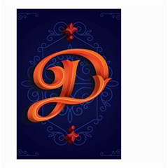 Marquis Love Dope Lettering Blue Red Orange Alphabet P Small Garden Flag (two Sides) by Mariart