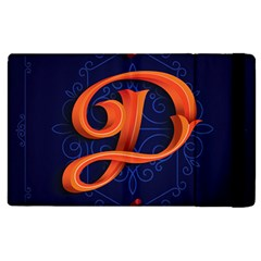 Marquis Love Dope Lettering Blue Red Orange Alphabet P Apple Ipad 2 Flip Case by Mariart