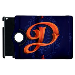 Marquis Love Dope Lettering Blue Red Orange Alphabet P Apple Ipad 2 Flip 360 Case by Mariart