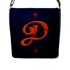 Marquis Love Dope Lettering Blue Red Orange Alphabet P Flap Messenger Bag (l)  by Mariart