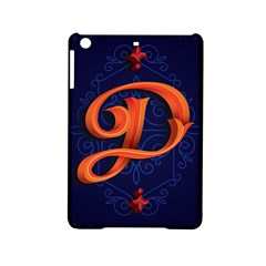 Marquis Love Dope Lettering Blue Red Orange Alphabet P Ipad Mini 2 Hardshell Cases by Mariart