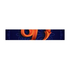 Marquis Love Dope Lettering Blue Red Orange Alphabet P Flano Scarf (mini) by Mariart