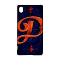Marquis Love Dope Lettering Blue Red Orange Alphabet P Sony Xperia Z3+ by Mariart