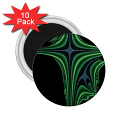 Line Light Star Green Black Space 2 25  Magnets (10 Pack)  by Mariart