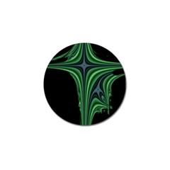 Line Light Star Green Black Space Golf Ball Marker by Mariart