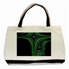 Line Light Star Green Black Space Basic Tote Bag by Mariart