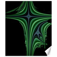 Line Light Star Green Black Space Canvas 8  X 10  by Mariart