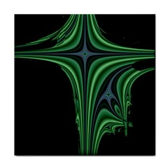Line Light Star Green Black Space Face Towel by Mariart