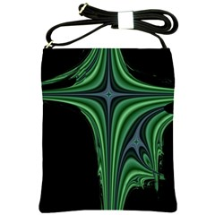 Line Light Star Green Black Space Shoulder Sling Bags by Mariart