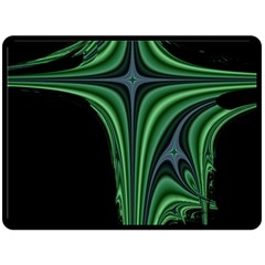 Line Light Star Green Black Space Double Sided Fleece Blanket (large)  by Mariart