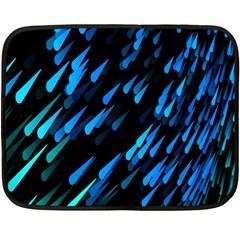 Meteor Rain Water Blue Sky Black Green Double Sided Fleece Blanket (mini)  by Mariart