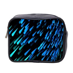Meteor Rain Water Blue Sky Black Green Mini Toiletries Bag 2 Side by Mariart