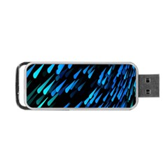 Meteor Rain Water Blue Sky Black Green Portable Usb Flash (one Side) by Mariart