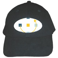 Plaid Arrow Yellow Blue Key Black Cap by Mariart