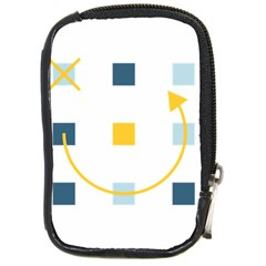 Plaid Arrow Yellow Blue Key Compact Camera Cases by Mariart