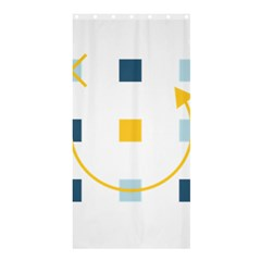 Plaid Arrow Yellow Blue Key Shower Curtain 36  X 72  (stall)  by Mariart