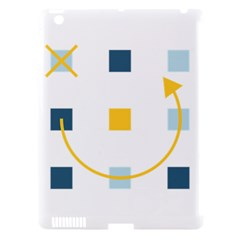 Plaid Arrow Yellow Blue Key Apple Ipad 3/4 Hardshell Case (compatible With Smart Cover) by Mariart