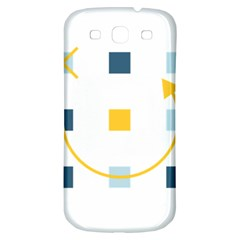 Plaid Arrow Yellow Blue Key Samsung Galaxy S3 S Iii Classic Hardshell Back Case by Mariart