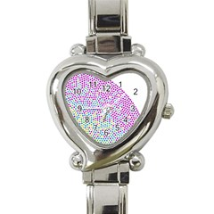 Japanese Name Circle Purple Yellow Green Red Blue Color Rainbow Heart Italian Charm Watch by Mariart