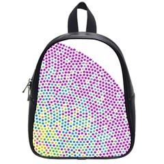 Japanese Name Circle Purple Yellow Green Red Blue Color Rainbow School Bags (small)  by Mariart