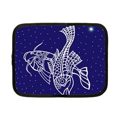 Pisces Zodiac Star Netbook Case (small)  by Mariart