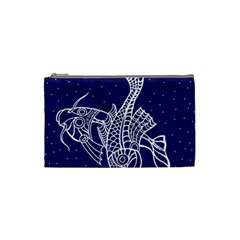 Pisces Zodiac Star Cosmetic Bag (small)  by Mariart