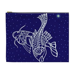 Pisces Zodiac Star Cosmetic Bag (xl) by Mariart