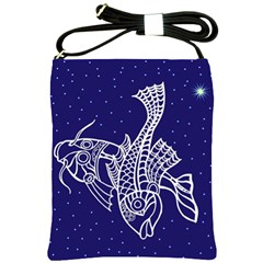 Pisces Zodiac Star Shoulder Sling Bags by Mariart