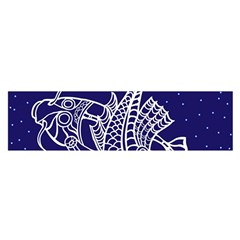 Pisces Zodiac Star Satin Scarf (oblong) by Mariart