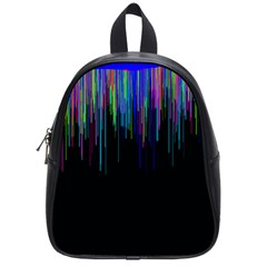 Rain Color Paint Rainbow School Bags (small)  by Mariart