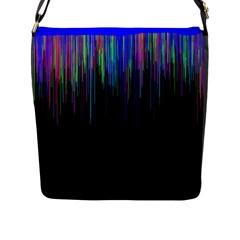 Rain Color Paint Rainbow Flap Messenger Bag (l)  by Mariart