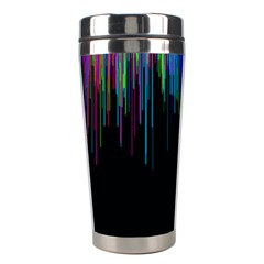 Rain Color Paint Rainbow Stainless Steel Travel Tumblers by Mariart