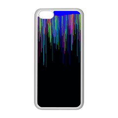 Rain Color Paint Rainbow Apple Iphone 5c Seamless Case (white) by Mariart