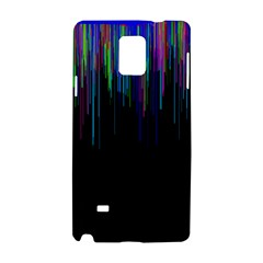 Rain Color Paint Rainbow Samsung Galaxy Note 4 Hardshell Case by Mariart