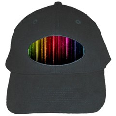 Rain Color Rainbow Line Light Green Red Blue Gold Black Cap by Mariart