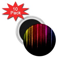 Rain Color Rainbow Line Light Green Red Blue Gold 1 75  Magnets (10 Pack)  by Mariart