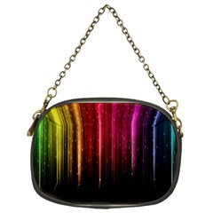 Rain Color Rainbow Line Light Green Red Blue Gold Chain Purses (one Side)  by Mariart