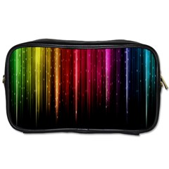 Rain Color Rainbow Line Light Green Red Blue Gold Toiletries Bags by Mariart