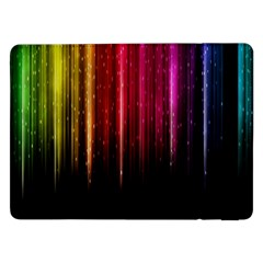 Rain Color Rainbow Line Light Green Red Blue Gold Samsung Galaxy Tab Pro 12 2  Flip Case by Mariart