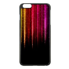 Rain Color Rainbow Line Light Green Red Blue Gold Apple Iphone 6 Plus/6s Plus Black Enamel Case by Mariart