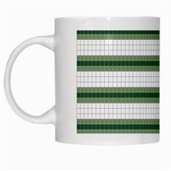 Plaid Line Green Line Horizontal White Mugs by Mariart