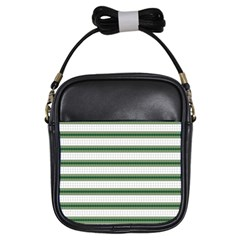 Plaid Line Green Line Horizontal Girls Sling Bags by Mariart