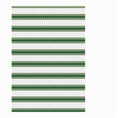 Plaid Line Green Line Horizontal Small Garden Flag (two Sides) by Mariart
