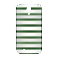 Plaid Line Green Line Horizontal Samsung Galaxy S4 I9500/i9505  Hardshell Back Case by Mariart