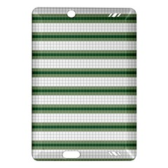 Plaid Line Green Line Horizontal Amazon Kindle Fire Hd (2013) Hardshell Case by Mariart