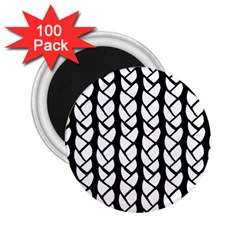 Ropes White Black Line 2 25  Magnets (100 Pack)  by Mariart