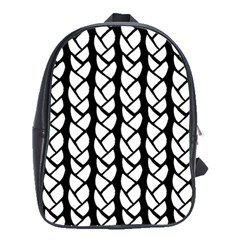 Ropes White Black Line School Bags(large)  by Mariart